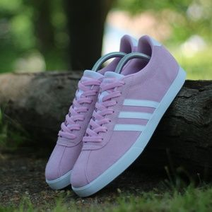 Adidas Women's Courtset Suede Sneakers DB0146 Pink